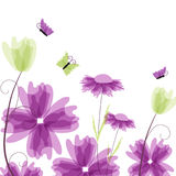 Violet floral background Royalty Free Stock Image