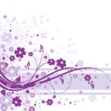 Violet Floral Background Stock Photos