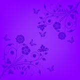 Violet floral banner Royalty Free Stock Photos
