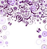 Violet floral card Royalty Free Stock Photos