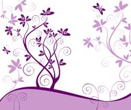 Violet floral card Stock Photo