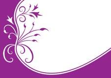 Violet floral frame Royalty Free Stock Image