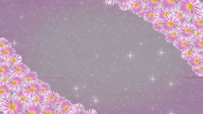 Violet floral frame background - seamless loop. Violet floral frame background with stars - seamless loop stock video footage