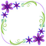 Violet floral frame Stock Photography