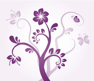 Violet Floral ornament Stock Images