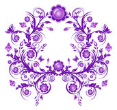 violet floral ornament frame Royalty Free Stock Photo