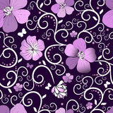 Violet floral pattern Royalty Free Stock Images