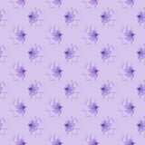 Violet floral pattern. Seamless accurate pattern with floral design. Illustrations Royalty Free Stock Photos