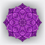 Violet floral round ornament Stock Photography