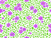 Violet floral seamless pattern Stock Image
