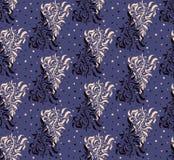 Violet Floral Seamless Pattern foncée Images stock