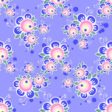 Violet floral seamless pattern Royalty Free Stock Images