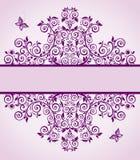 Violet floral vintage heading Stock Image