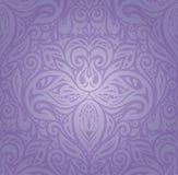 Violet Floral-Weinlesemuster-Hintergrunddesign vektor abbildung