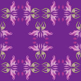 Violet flourish Stock Images