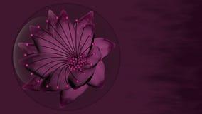 Violet Flower in einer Blase Lizenzfreies Stockbild