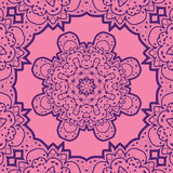 Violet flower mandala like design. Vinatge element Royalty Free Stock Photography