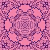 Violet flower mandala like design. Vinatge element Royalty Free Stock Photography