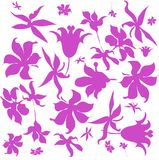 Violet flower ornament background Royalty Free Stock Image