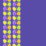Violet flower seamless pattern Stock Image