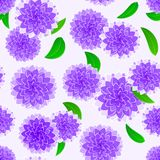 Violet flower seamless pattern Royalty Free Stock Photo