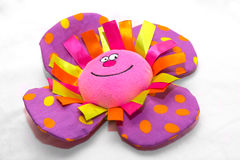 Violet flower stuffed toy Stock Photos