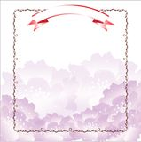 Violet flower template Royalty Free Stock Photo