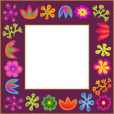 Violet  flowers frame Stock Photography
