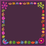 Violet  flowers frame Stock Photos
