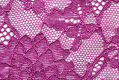 Violet flowers lace material texture macro shot Royalty Free Stock Photo