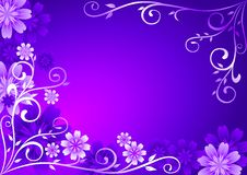 Violet Flowers Ornament Stock Photos