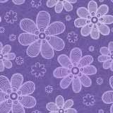 Violet flowers pattern Royalty Free Stock Photo