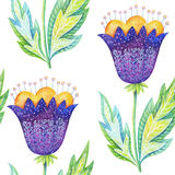 Violet flowers pattern Stock Photos