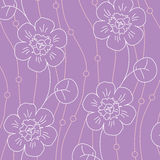 Violet flowers seamless pattern Stock Photo