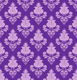 Violet flowers on violet background Stock Photography