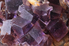 Violet fluorite cubes Royalty Free Stock Photography