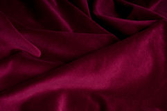 Violet folded fabric Stock Photo