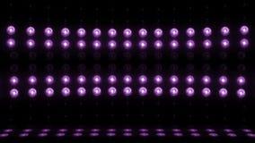 Violet för ÖGLA för vertikal scanning 4K för etapp för ljus kula 3d arkivfilmer