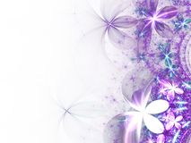 Violet fractal flowers. Digital artwork for creative graphic design Royalty Free Stock Photos