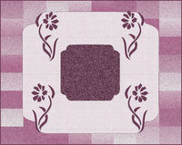 Violet Frame Royalty Free Stock Photography