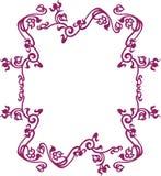 Violet frame. Purple colored baroque floral frame graphic design vector illustration