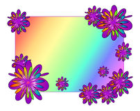 Violet frame. Illustration colored frame with flowers Stock Illustration