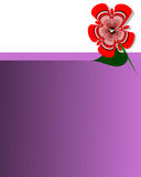 Violet frame card background. Flover vector illustration