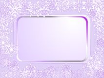 Violet frame Stock Photography