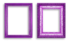 Violet frame isolated on white background Stock Photos