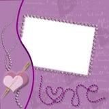 Violet frame love Royalty Free Stock Image