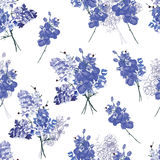Violet french bouquet seamless pattern Royalty Free Stock Images