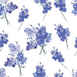 Violet french bouquet seamless vector pattern Royalty Free Stock Image