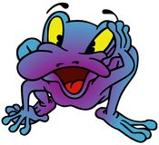 Violet Frog Stock Photo