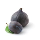 Violet fruits, plum and fig Royalty Free Stock Images